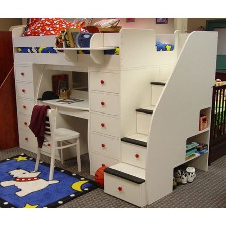 Berg Furniture Sierra Twin Space Saver Loft Bed With