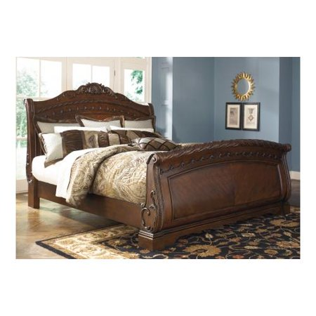 Ashley North Shore B553 76 78 79 King Sized Sleigh Bed With Ornate Scrolling
