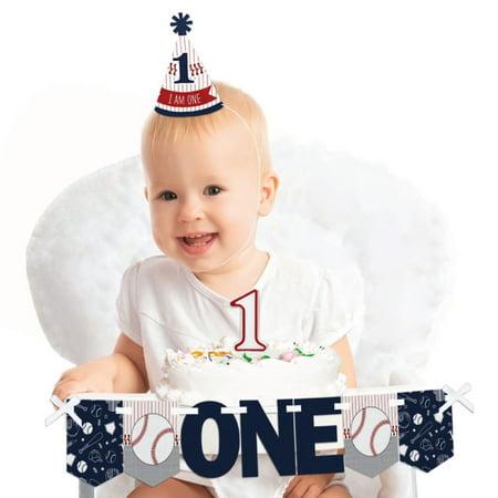 Batter Up - Baseball 1st Birthday - First Birthday Boy Smash Cake Decorating Kit - High Chair Decorations](Boy First Birthday Ideas)