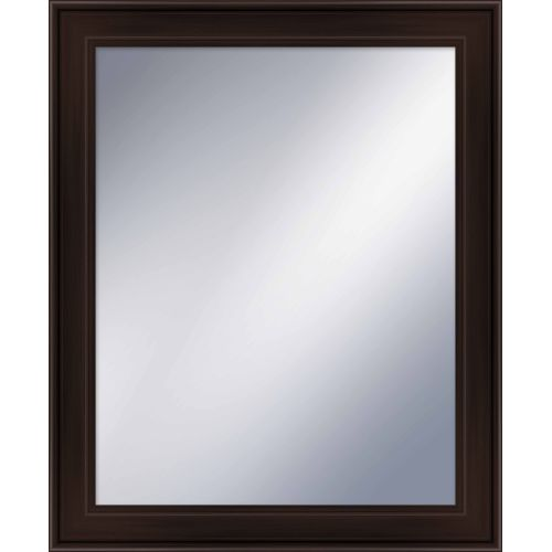 "PTM IMages 5-1225 33.75"" X 27.75"" Rectangular Mirror With Brown Frame by PTM Images"