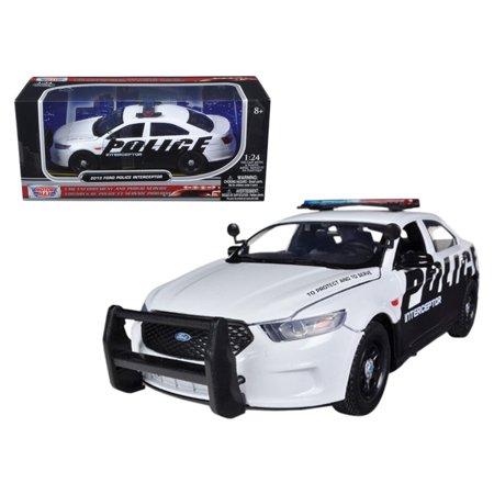 2013 Ford Police Car Interceptor 1/24 Diecast Car Model by Motormax ()