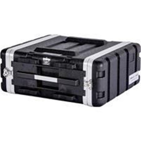 Fly Drive Case 4u Space ABS Molded for Tough Durable Interior & Exterior Case for 19 in. Amplifier - Equalizer, DJ Effects