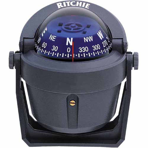 Ritchie B-51G Bracket Mount Explorer Compass, Grey with Blue Dial by Generic
