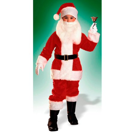 Boys Plush Santa Suit - Boys Santa Suit