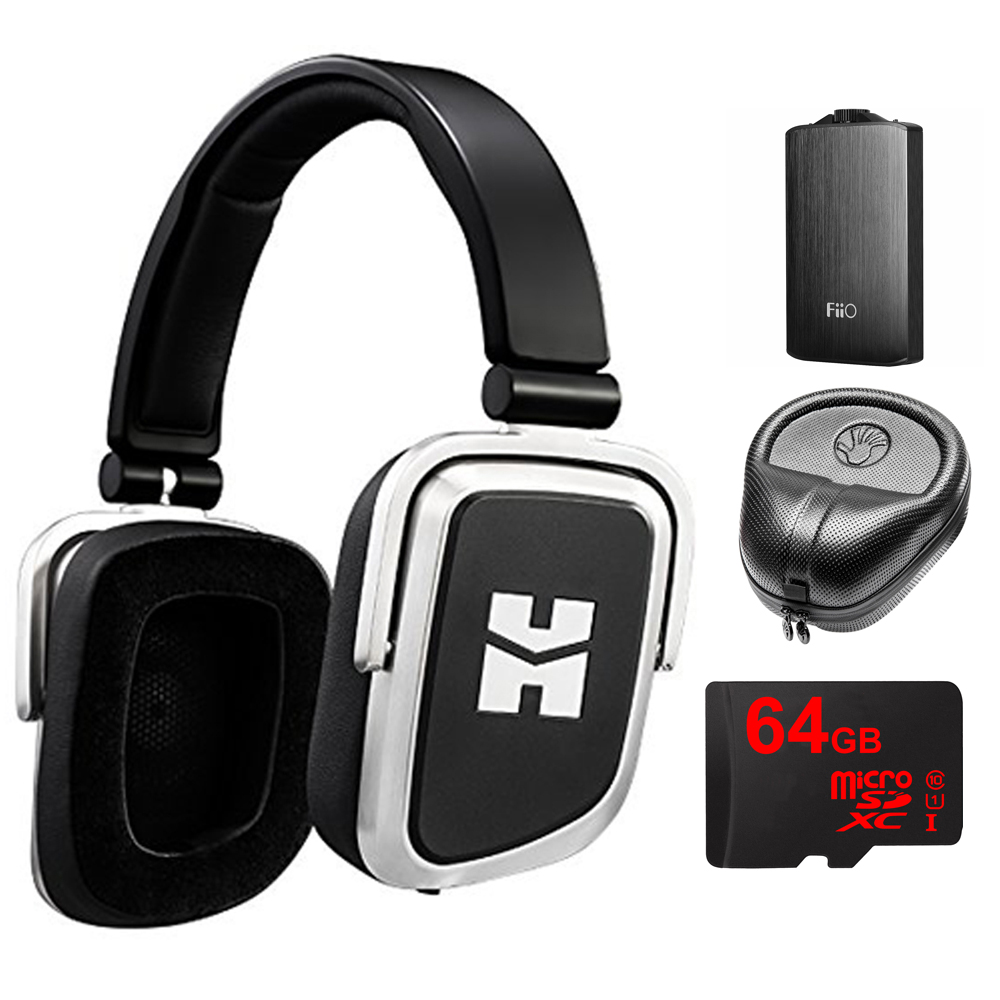 HIFIMAN Edition S Open/Closed Back On-Ear Dynamic Foldable Headphones (Edition S) with A3 Portable Headphone Amplifier, HardBody PRO Full Sized Headphone Case & 64GB MicroSDXC High-Speed Memory Card