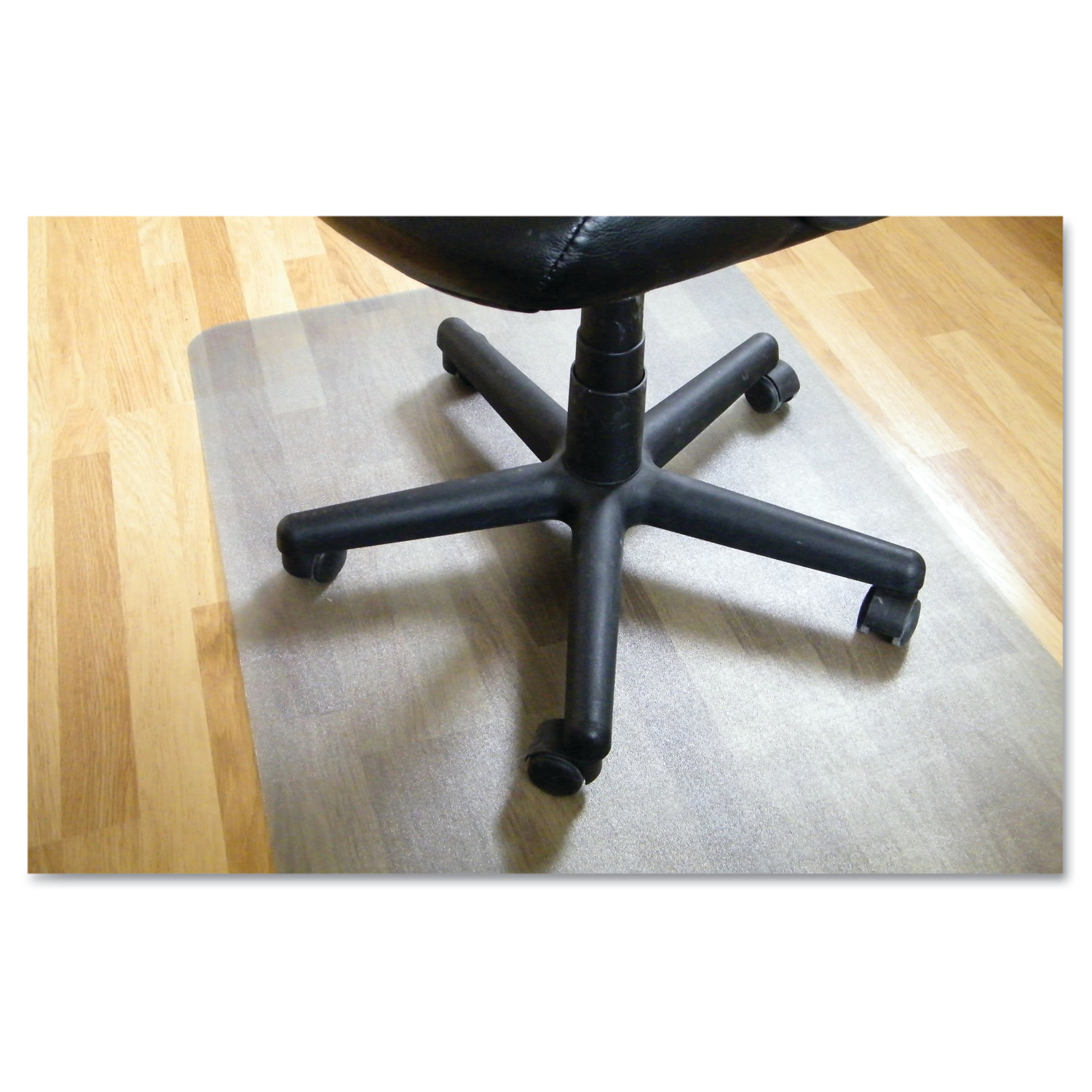 "EcoTex Revolutionmat | Recycled Chair Mat | For Hard Floors | 100% Recycled | Rectangular | Size 48"" x 60"""