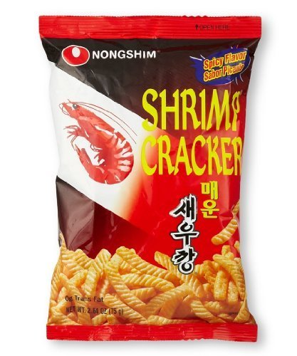 Nongshim Crispy Shrimp Stick Crackers Hot & Spicy 75g (1 Bag) by Nongshim