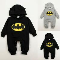 3-24Months Outfit Baby Boys Infant Cartoon Batman Cotton Bodysuit Costume Romper