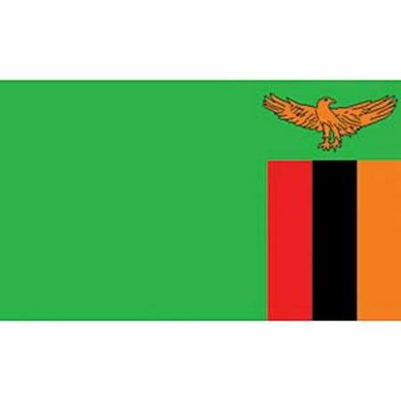 Zambia Flag On A Stick 12