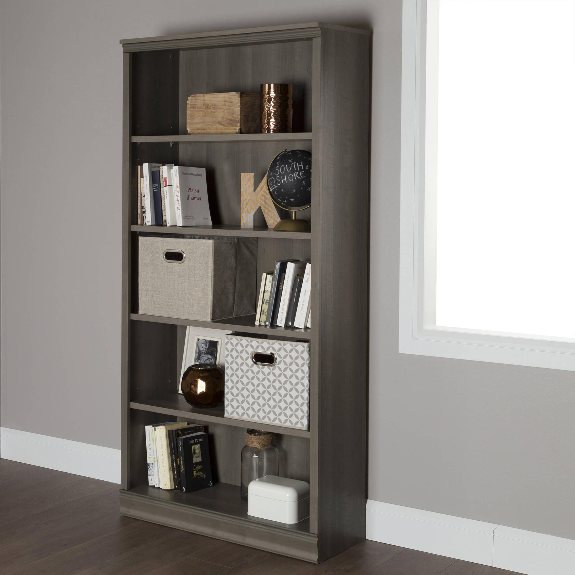 South Shore Morgan 5-Shelf Bookcase, Multiple Finishes