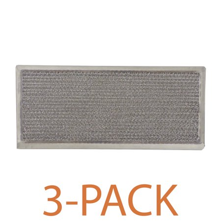 Supco RHF0525 Range Hood Filter (3-Pack) Grease filter specifically designed to fit GE, and Whirlpool range hoods and microwave ovens.