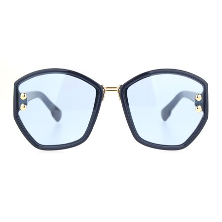 Womens Luxury Fashion 90s Oversize Butterfly Sunglasses Navy Blue](Navy Sunglasses)