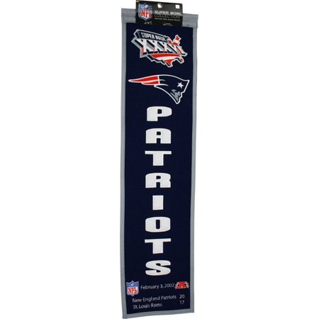 Super Bowl Dynasty Banner - Super Bowl XXXVI New England Patriots Heritage Banner