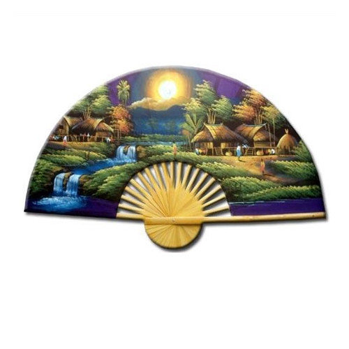 Oriental Furniture Asian Village Sunset Oriental Fan Wall D cor