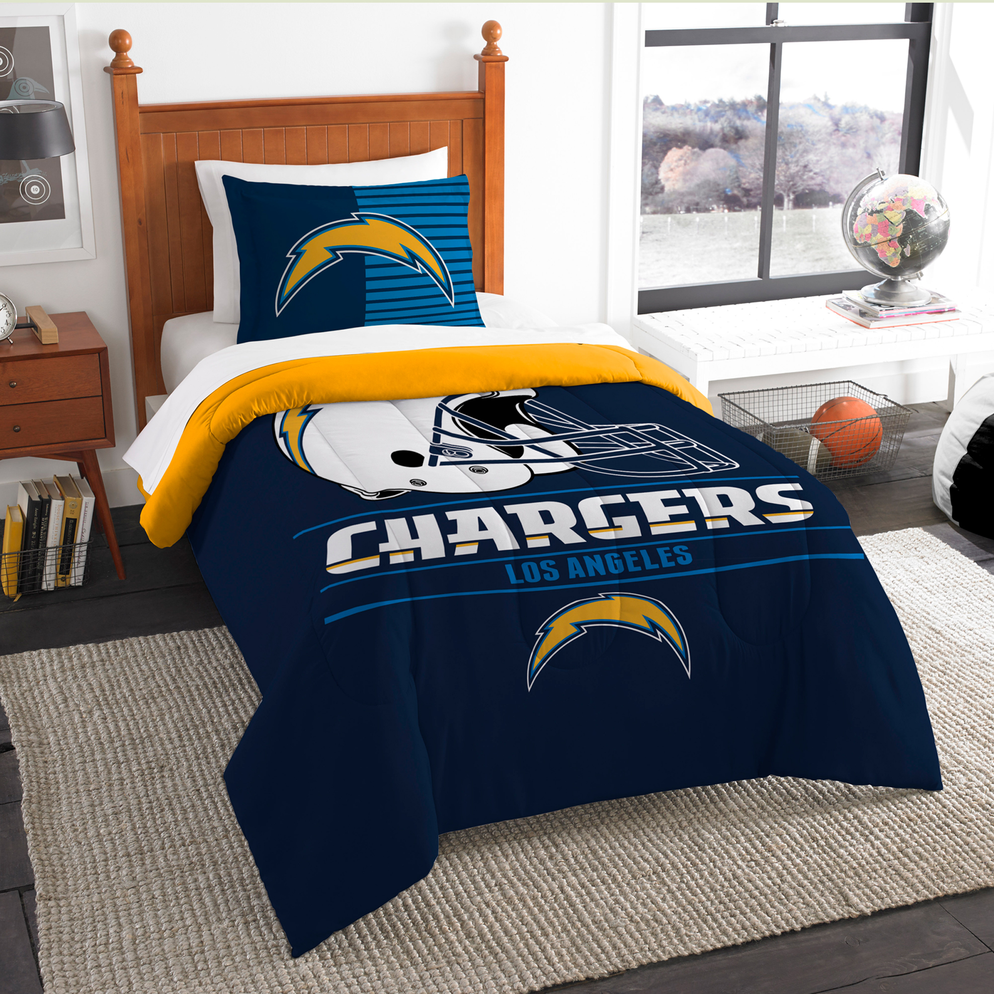 Los Angeles Chargers The Northwest Company NFL Draft Twin Comforter Set - No Size