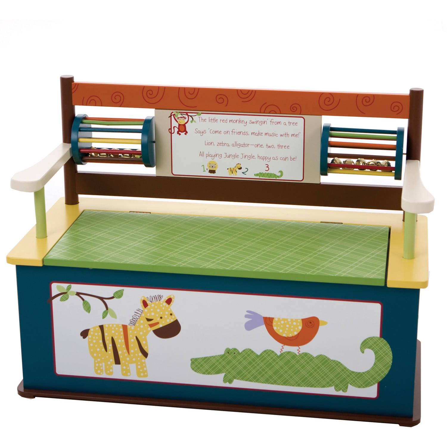 Levels of Discovery Jungle Jingle Bench Seat with Storage by Levels of Discovery