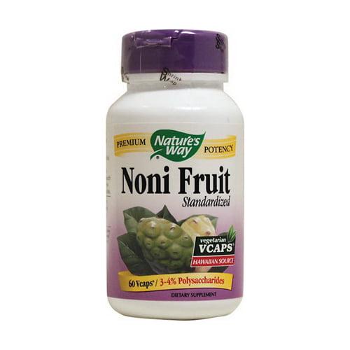 Natures Way Noni Fruit Standardized Vegetarian Capsules - 60 Ea