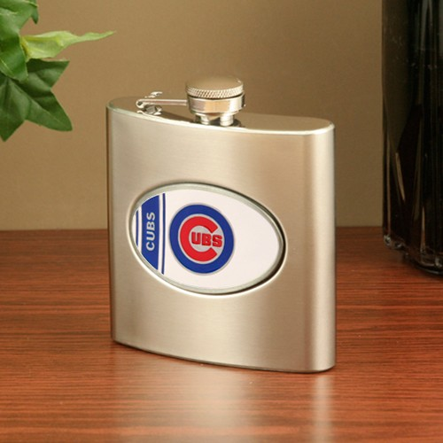 Chicago Cubs Stainless Steel Flask - No Size