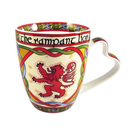 Rampart Lion China Mug - Scottish Weave ()