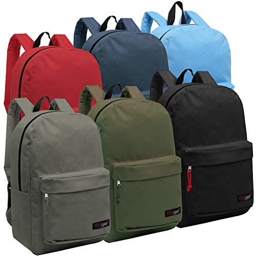 Wholesale 16.5 Inch Backpacks - Case of 24 Multicolored MGgear Bulk School Bags - image 1 of 1