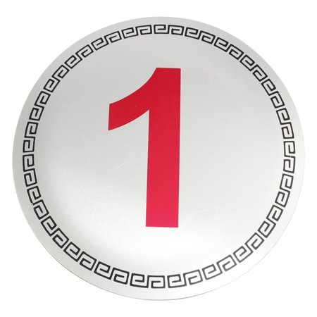 Unique Bargains Stopping Place Hotel Door Arabic Numeral Symbol Number 1 Sign Sticker - Number Symbol