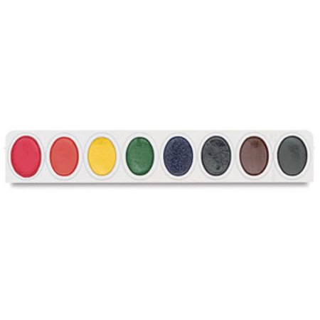 Prang Semi-Moist Watercolor Refills, Oval Pan, Multiple Colors, Pack of 12
