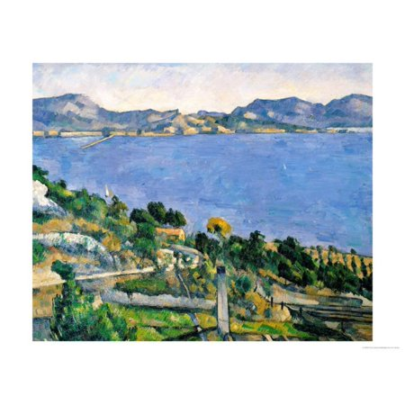 L'Estaque, View of the Bay of Marseilles, circa 1878-79 Post-Impressionism Coastal Ocean Landscape Art Print Wall Art By Paul - Marseilles Bedroom