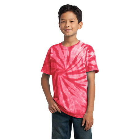 Port & Company® - Youth Tie-Dye Tee. Pc147y Red S - image 1 de 1