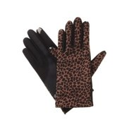 Isotoner Smart Touch Womens Leopard Print Stretch Smartouch Text & Tech Gloves
