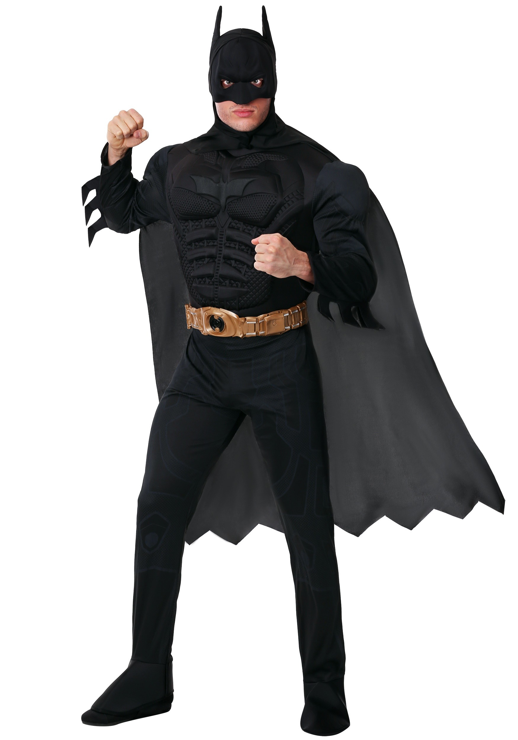 Adult Deluxe Dark Knight Batman Costume by Rubies
