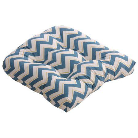 Pillow Perfect Chevron Outdoor Dining Chair Cushion