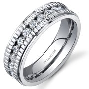 6.0mm Women's Wedding Band Ring in Titanium