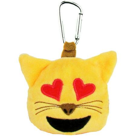 Emoji Backpack Clip, Cat with Heart Eyes (Frauen Schwarz Cat Eye Sonnenbrille)