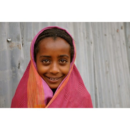 LAMINATED POSTER Face Ethiopia Child Africa Girl Kids Children Poster Print 24 x -