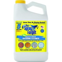 Spray & Forget House & Deck Cleaner Concentrate, 64 oz Bottle, 1 Count, Outdoor Cleaner, Mold Remover, Mildew Remover