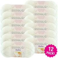 Bernat Baby Yarn - Baby White, Multipack of 12