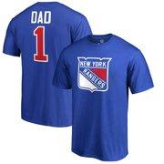 New York Rangers Fanatics Branded #1 Dad T-Shirt - Blue