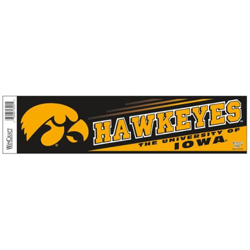 Iowa Hawkeyes Official NCAA 12 inch x 3 inch  Bumper Sticker by WinCraft