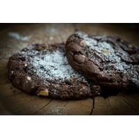 Canvas Print Chocolate Cookies Cookies Nuts Dark Cookies Stretched Canvas 10 x 14