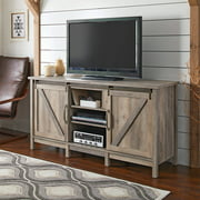 """Better Homes & Gardens Modern Farmhouse TV Stand for TVs up to 70"""", Rustic Gray Finish"""