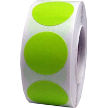 Hot Green Circle Dot Stickers, 0.75 Inch Round, 500 Labels on a - Custom Roll Stickers