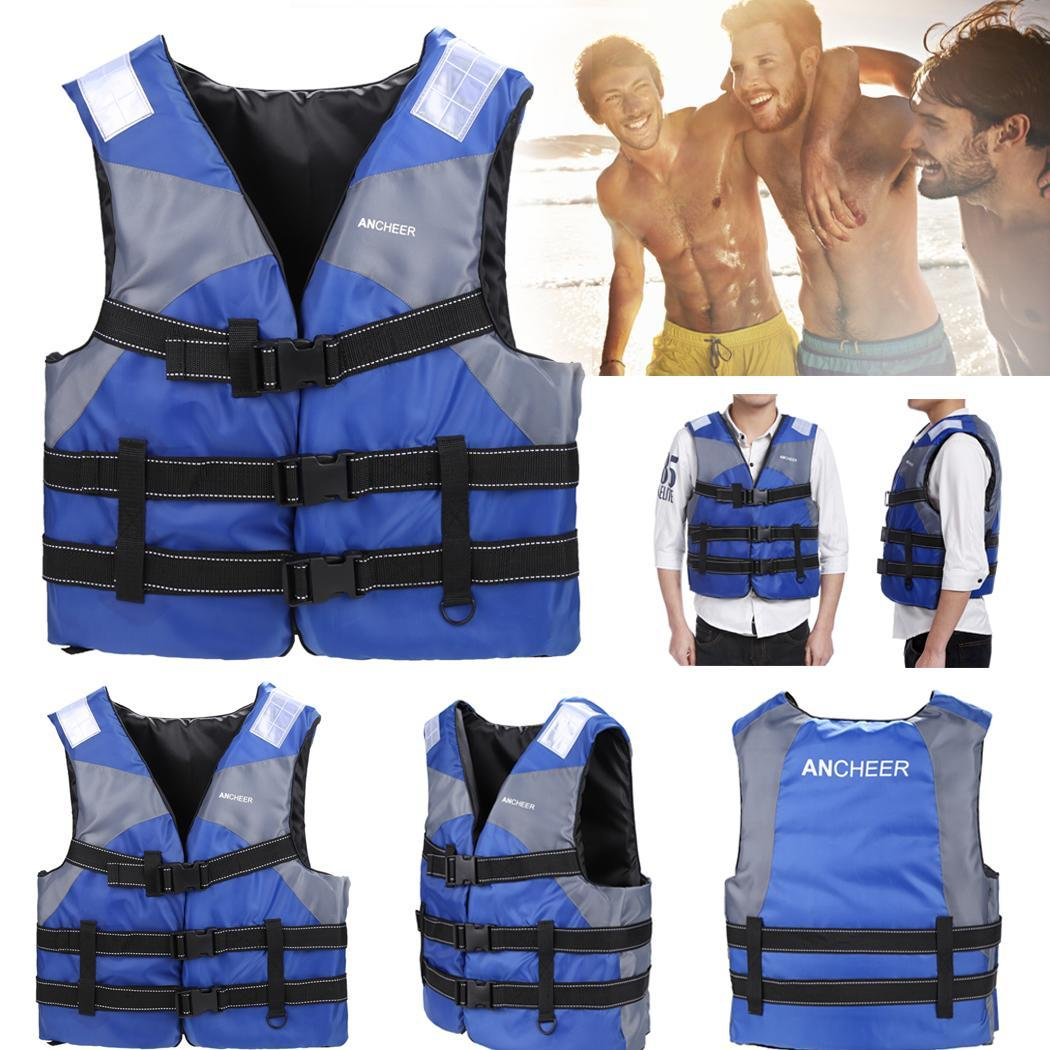 Elecmall Adult Life Jacket Swimming Boating Drift Ski Foam Vest by