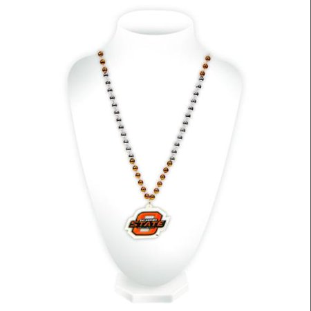 Oklahoma State Cowboys Mardi Gras Beads with Medallion