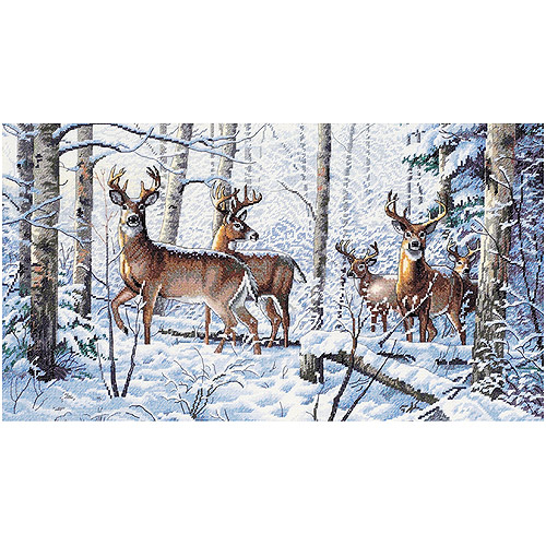 "Woodland Winter Counted Cross-Stitch Kit, 18"" x 10"""