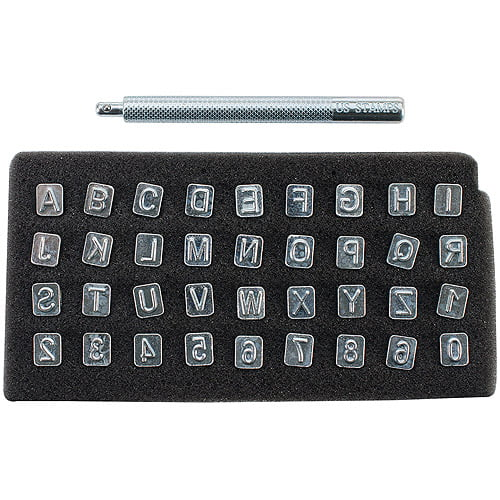 """Alphabet and Number Stamp Set, 1 4"""" by Realeather Crafts"""