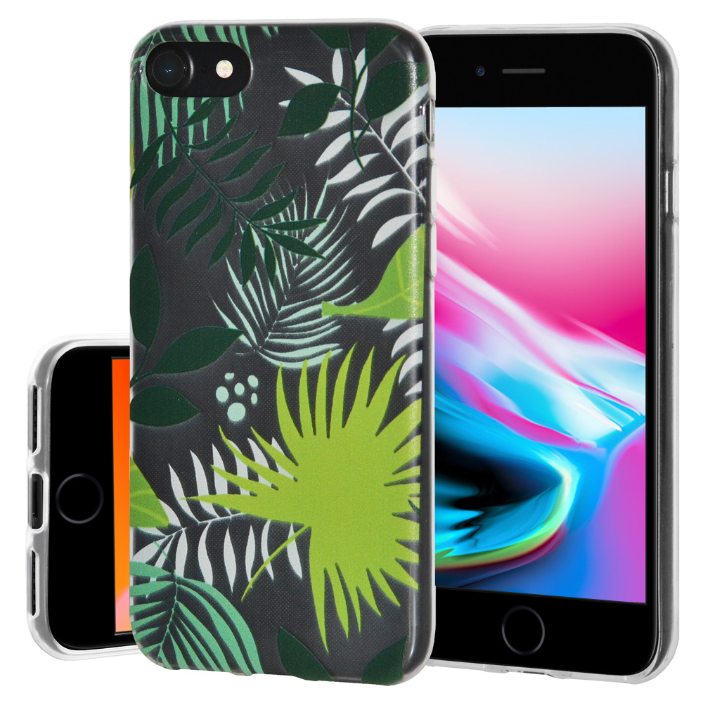 iPhone 8 Case, Premium Soft Gel Clear TPU Graphic Skin Case Cover for Apple iPhone 8 - Botanical, Support Wireless Charging, Slim Fit, ShockProof
