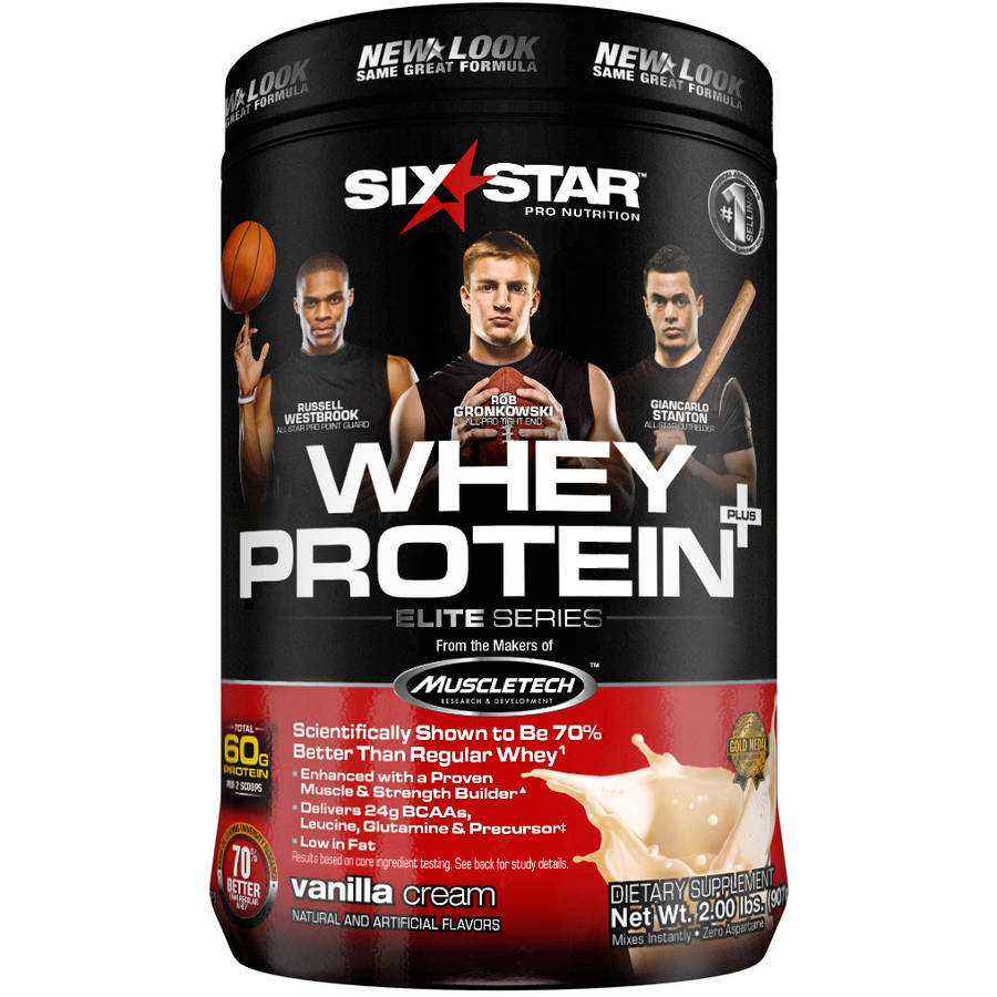Six Star Pro Nutrition Whey Protein Plus French Vanilla, 2 lb