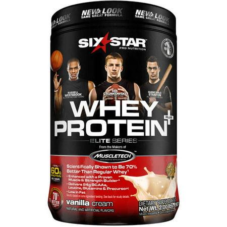 Six Star Elite Series Whey Protein Powder 39 grams of Protein Vanilla Cream, 2.0 lbs