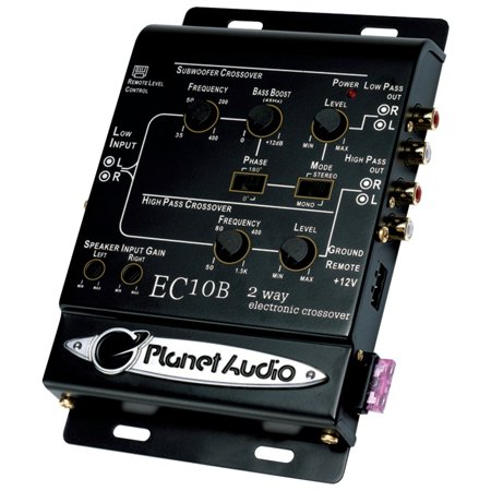 Planet Audio EC10B 2-Way Electronic Crossover With Remote Subwoofer