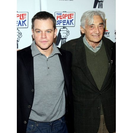 - Matt Damon Howard Zinn At Arrivals For The People Speak Premiere Hosted By History Jazz At Lincoln Center Rose Theater New York Ny November 19 2009 Photo By Rob KimEverett Collection Celebrity